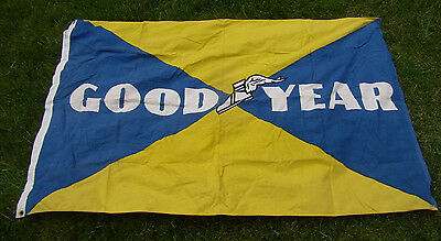 Vintage Goodyear Wing Foot Logo Gas Station / Tire Store Large Cloth Banner