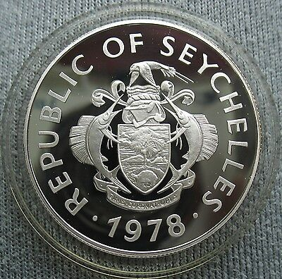 1978 Seychelles Silver Proof 50 Rupees Squirrel Fish