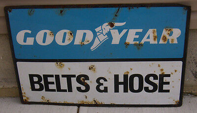 Vintage Large Goodyear Belts & Hose Gas Station / Tire Store Metal Sign