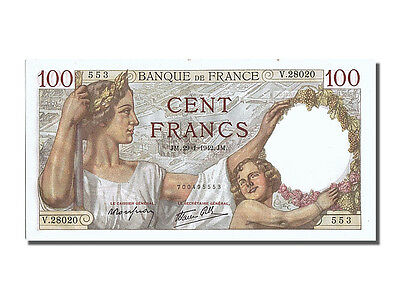 [#201104] France, 100 Francs, 100 F 1939-1942 ''Sully'', 1942, KM #94