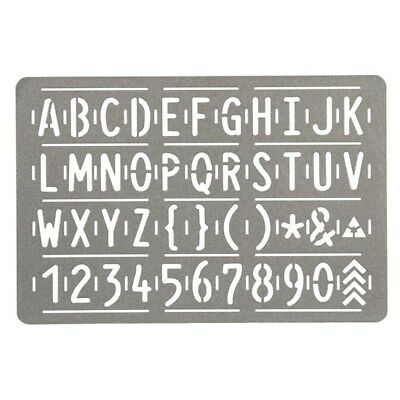NEW Metal Letter Stencil - For Woodburner from Hobby Tools Australia