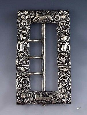 Fabulous 1850s-1890s Antique 900 Purity Silver Buckle