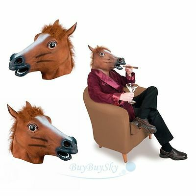 Horse Head Mask Latex Animal Costume Prop Gangnam Style Toys Party Halloween USA