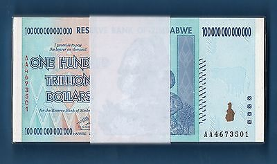 Zimbabwe 100 Trillion Dollars, Half Bundle (50 PCS), 2008, UNC, P91
