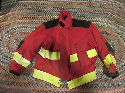 Janesville Lion Apparel Firefighter Jacket Turnout Gear Size 54/29R captain red