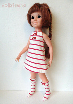 CRISSY DOLL CLOTHES Candy-Cane Dress & Boots Brandi Kerry Fashion NO DOLL d4e