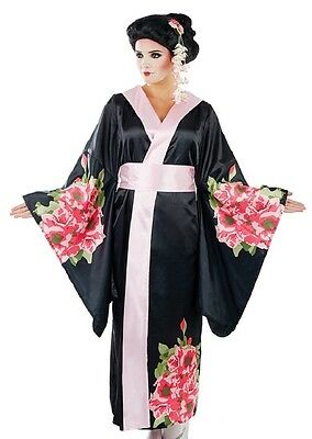Ladies Japanese Geisha Girl TV Film Fancy Dress Costume Outfit UK 8-26 Plus Size