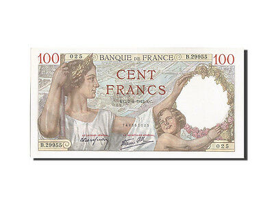 [#204648] France, 100 Francs, 100 F 1939-1942 ''Sully'', 1942, KM #94