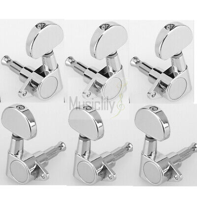 3L3R Chrome Sealed Tuning Pegs Machine Heads Tuners Set For LP Epiphone Guitar