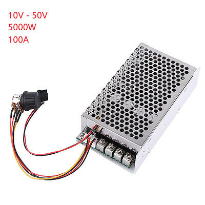 10-50V 100A 5000W Motor Speed Controller 0-100% PWM Motor Speed Stepless Control