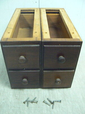 Antique Singer Sewing Machine No.2 Cabinet Parts: 4 Mahogany Drawers & Frames