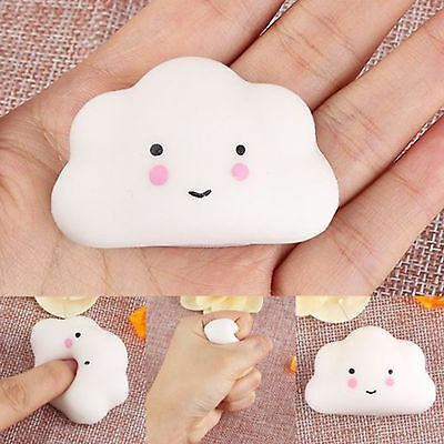 Hot Squishy Squeeze Cloud Slow Rising Cream  Bread Toy Stress Stretch new cute