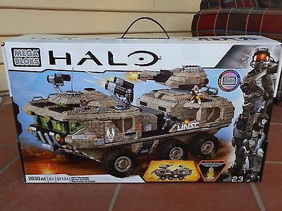 Mega Bloks Halo 97174 UNSC Mammoth signature series End of life rare collectors