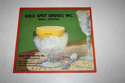 10 Vintage Gold Spot Groves Inc. Mesa AZ Fruit Crate Box Labels Grapefruit