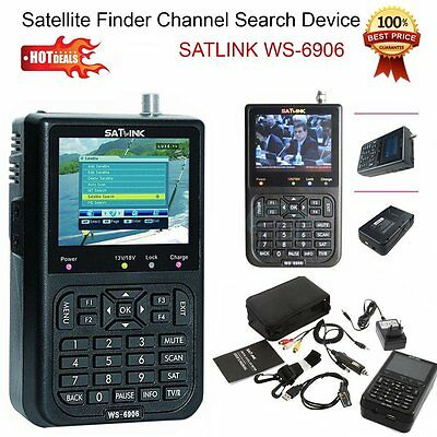 "New SATlink 3.5"" DVB-S FTA Data WS-6906 Digital Satellite Signal Finder Meter ET"