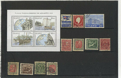 Lot 15 Timbres Islande Europe