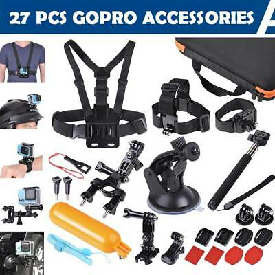 27Pcs Accessories Pack Camera Mount Kit for Gopro Hero 5 4 3 3+ 2 1 SJCAM Xiaomi