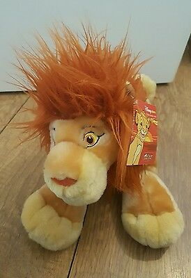 Disney store exclusive mufasa adult simba soft plush toy the lion king tagged