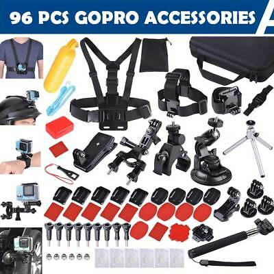 96Pcs Accessories Pack Camera Mount Kit for Gopro Hero 5 4 3 3+ 2 1 SJCAM Xiaomi