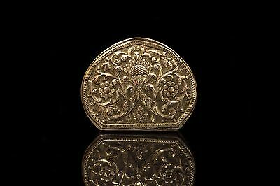 Antique Original Perfect Silver Ottoman Big Medicine Box