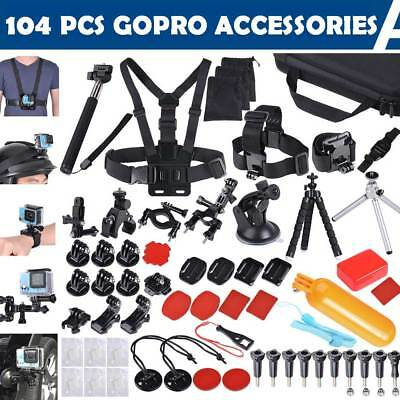 104Pcs Accessories Pack Camera Mount for Gopro Hero 5 4 3 3+ 2 1 SJCAM Xiaomi