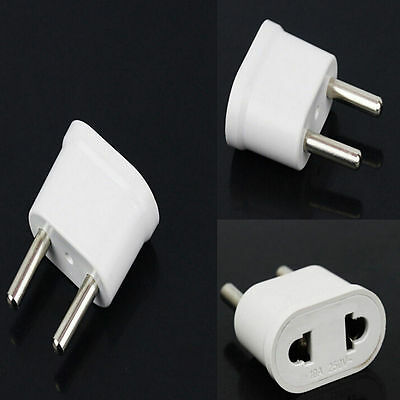 2Pcs Travel Charger Wall AC Power Plug Adapter Converter US USA to EU Europe