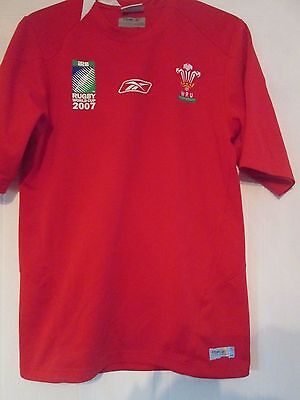 Wales  Rugby Union World Cup 2007 Home Shirt Adult Size Small /41332