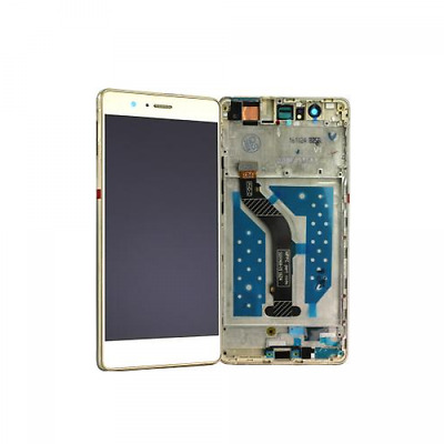 original Huawei P9 Lite LCD Display + Touchscreen Digitizer inkl. Rahmen gold