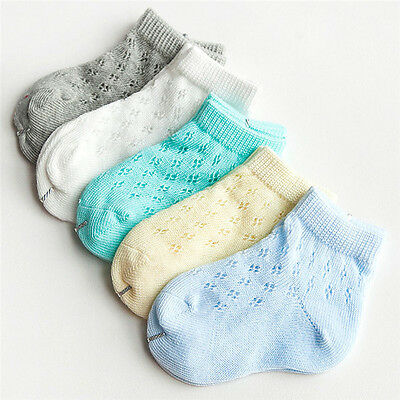 5Pairs HQ Baby Boy Girls Cute Cotton Socks Infant Toddler Kids Soft Floor Socks
