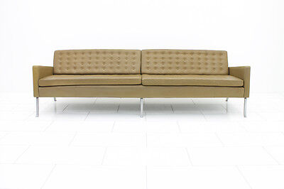 Very rare four-seater Leather Sofa by Roland Rainer, Austria 1956