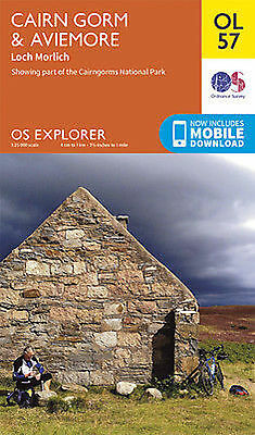OL57  Cairn Gorm and Aviemore Ordnance Survey Explorer Map OL 57