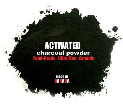 Activated Carbon Powder Charcoal Pure Fine Organic 100g