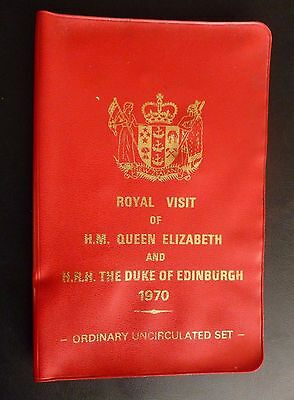 1970 New Zealand Royal Visit Uncirculated Set (7 Coins) See Description.