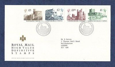 GB 1998  High Value Castles, First Day Cover; Windsor Berks