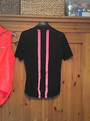 Rapha Black Pink Short Sleeve Cycling Jersey Women's Ladies Size L 12 Perfect!!!