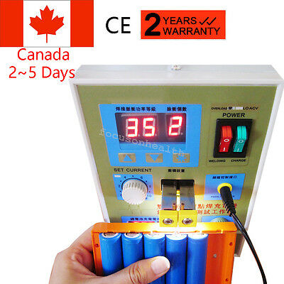 LED Dual Pulse Spot Welder 18650 Battery Charger 800A 0.1-0.2 mm 36V FAST SHIP