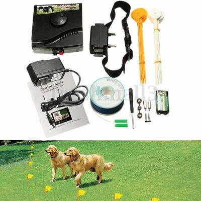 NEW Waterproof Underground Electric Dog 1 Collar Fence Fencing System Kit Set