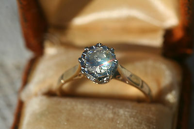 Vintage 18ct Yellow Gold Solitaire Diamond Ring Engagement Ring