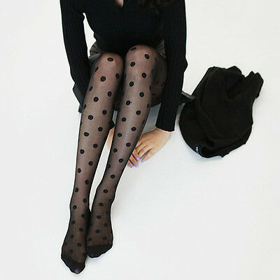 Seamless New Stockings Silk Lady Tights Socks Big Dots Women Pantyhose