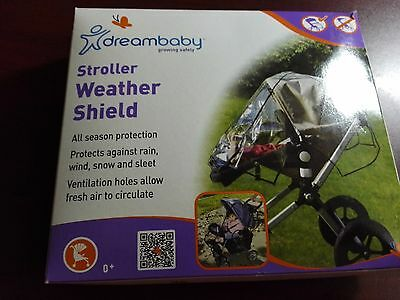 Dreambaby Stroller Weather Shield Rain Wind Snow Sleet Cover Brand New