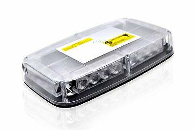 Clear Lens Amber LED Flashing Beacon Strobe Light Bar Lorry Forklift Truck Van