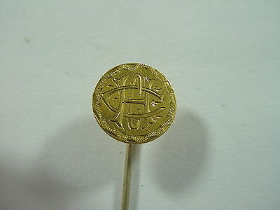 Antique $1 22K Gold One Dollar Coin Liberty Head Love Token Stick Pin