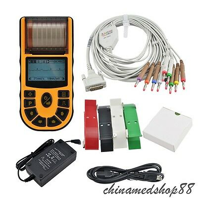 Digital 1-channel Handheld Electrocardiograph ECG/EKG machine Device US Fast CE