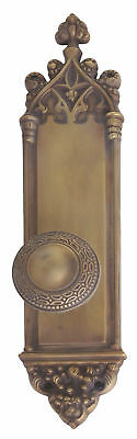 BRASS Accents Renaissance Gothic Plate Privacy Door Knob