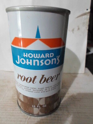 Howard Johnson`s Root Beer Straight Sided Steel Soda Can / Pop Can