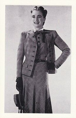 Postcard British Fashion c1945 Digby Morton Two-Piece Suit - Nostalgia