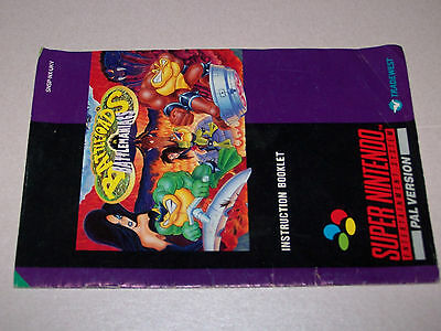 BATTLETOADS - ORIGINAL MANUAL ONLY  - Super Nintendo SNES - GD COND