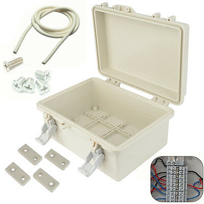 240mm x 170mm x 110mm Waterproof ABS Plastic Enclosure Case Power Junction Box