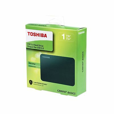 Toshiba Canvio Basics DBT310 1TB External Portable HARD DRIVE USB 3.0