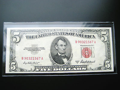 $5 1953 A United States Note Choice Unc Bu Note